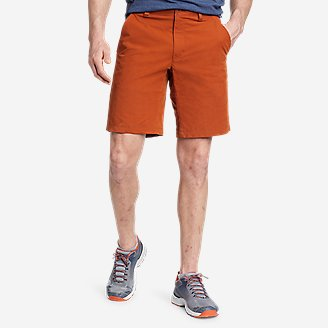 Men's Voyager Flex 10' Chino Shorts in Orange