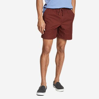 Men's Voyager Flex Pull-On Shorts in Brown
