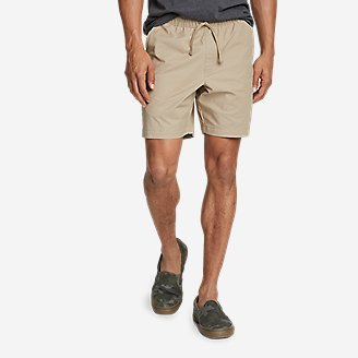 Men's Voyager Flex Pull-On Shorts in Beige