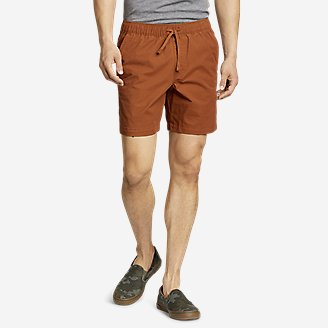Men's Voyager Flex Pull-On Shorts in Red