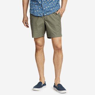 Men's Voyager Flex Pull-On Shorts in Green
