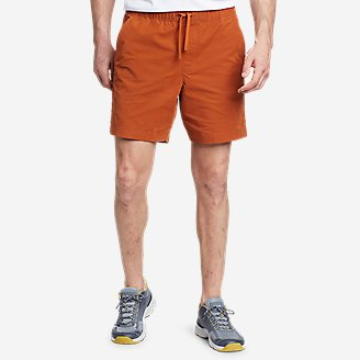 Men's Voyager Flex Pull-On Shorts in Orange