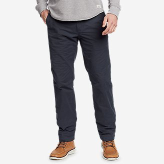 Men's Voyager Flex Fleece-Lined Chino Pants in Blue