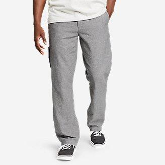 Men's Larrabee Linen-Blend Pants in Gray