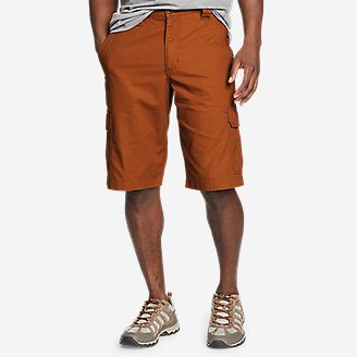 Men's Timber Edge Ripstop Cargo Shorts in Red