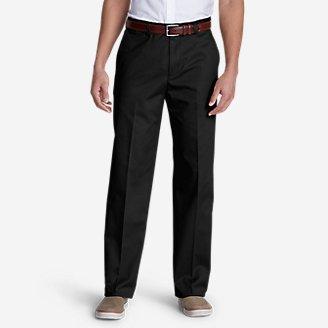 Men's Dress Performance Flat-Front Khakis - Classic in Black