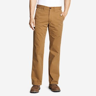Men's Legend Wash Chino Pants - Classic Fit in Brown