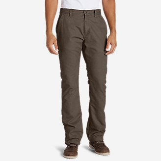 Men's Lined Canvas Mountain Pants in Beige