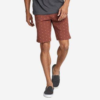 Men's Horizon Guide Chino Shorts - Pattern in Brown