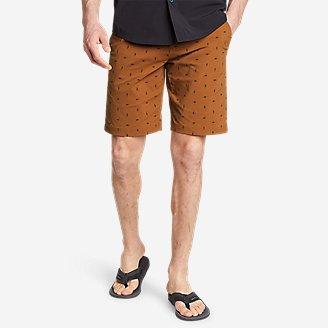 Men's Horizon Guide Chino Shorts - Pattern in Red