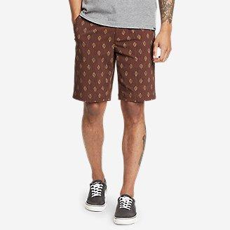 Men's Horizon Guide Chino Shorts - Pattern in Purple