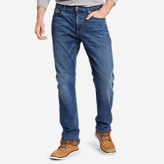 Men's Flannel-Lined Flex Jeans - Straight Fit in Blue