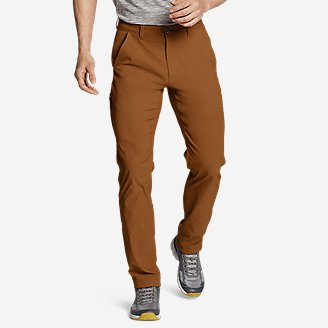 Men's Horizon Guide Chino Pants - Slim Fit in Red