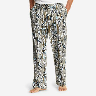 Men's Flannel Sleep Pants in White