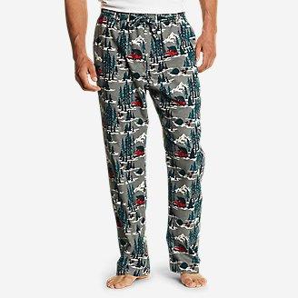 Men's Flannel Sleep Pants in Green
