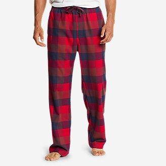 Men's Flannel Sleep Pants in Red