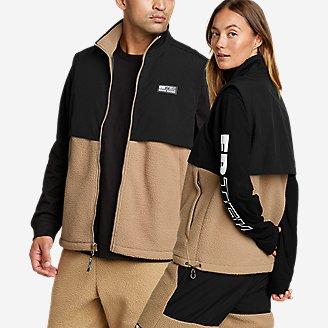 EBTek Fleece Vest in Beige