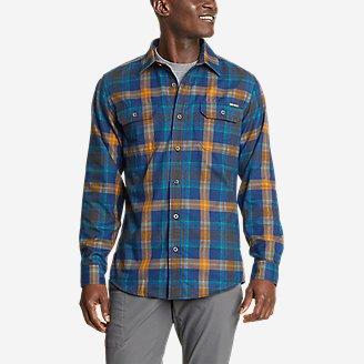 Men's Eddie Bauer Expedition Performance Flannel Shirt in Blue