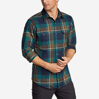 Black, M Voyager Mens Flannel Long-Sleeve Lined Shirt