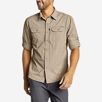 Men's Atlas Exploration Long-Sleeve Shirt in Beige