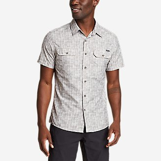 Men's Mountain Short-Sleeve Shirt - Print in Beige