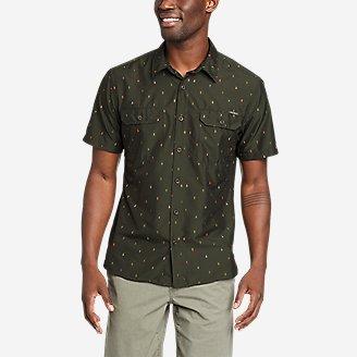 Men's Mountain Short-Sleeve Shirt - Print in Green