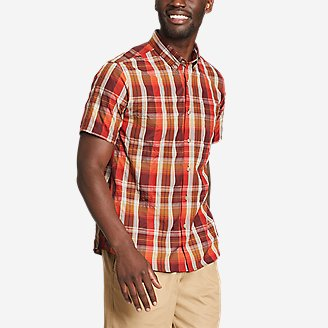 Men's On The Go Mountain Shirt in Red