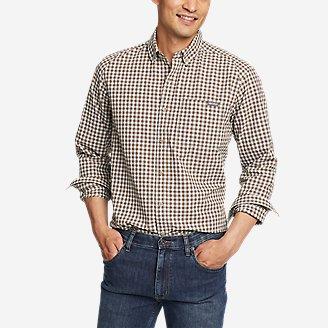Men's Pack It Seersucker Long-Sleeve Shirt in Brown