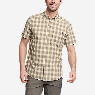 Men's Pack It Seersucker Short-Sleeve Shirt in Yellow