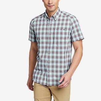 Men's Pack It Seersucker Short-Sleeve Shirt in Purple