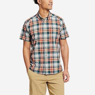 Men's Pack It Seersucker Short-Sleeve Shirt in Green
