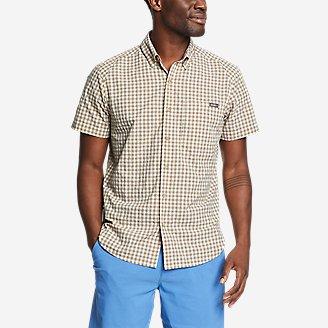 Men's Pack It Seersucker Short-Sleeve Shirt in Gray
