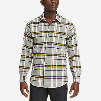 Men's Ultimate Expedition Flex Flannel Shirt in Gray