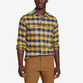 Men's Ultimate Expedition Flannel Shirt in Yellow
