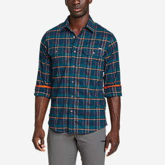 Men's Ultimate Expedition Flex Flannel Shirt in Blue