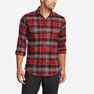 Men's Ultimate Expedition Flex Flannel Shirt in Red