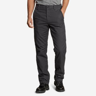 Men's Snowcat Fleece-Lined Canvas Pants in Gray