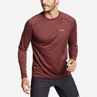 Men's Resolution Long-Sleeve T-Shirt in Red