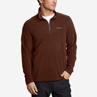 Men's Quest Fleece 1/4-Zip Pullover in Brown