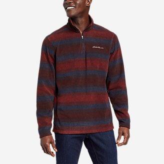 Men's Quest Fleece 1/4-Zip Pullover in Red