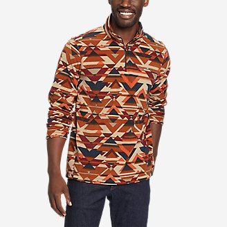 Men's Quest Fleece 1/4-Zip Pullover in Orange