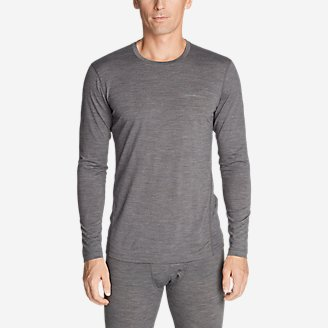 Men's Midweight FreeDry Merino Hybrid Baselayer Long-Sleeve Crew in Gray