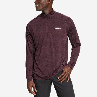 Men's Resolution Long-Sleeve 1/4-Zip in Purple