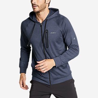 Men's Resolution Tech Full-Zip Hooded Sweatshirt in Blue