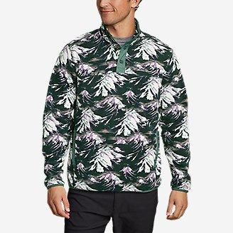 Men's Quest Fleece Snap Mock-Neck in Green