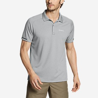 Men's Resolution Pro Short-Sleeve Polo Shirt in Gray