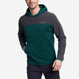 Men's On The Run Pullover Hoodie in Green
