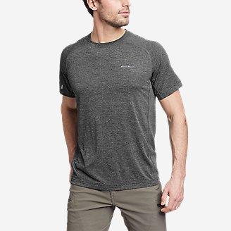 Men's Ventatrex Mesh Short-Sleeve Crew in Gray
