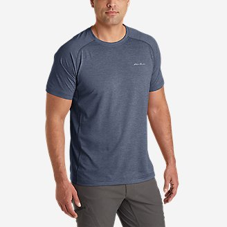 Men's Ventatrex Mesh Short-Sleeve Crew in Blue