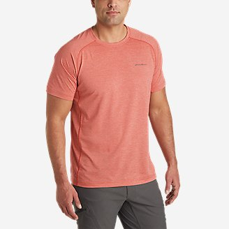 Men's Ventatrex Mesh Short-Sleeve Crew in Red